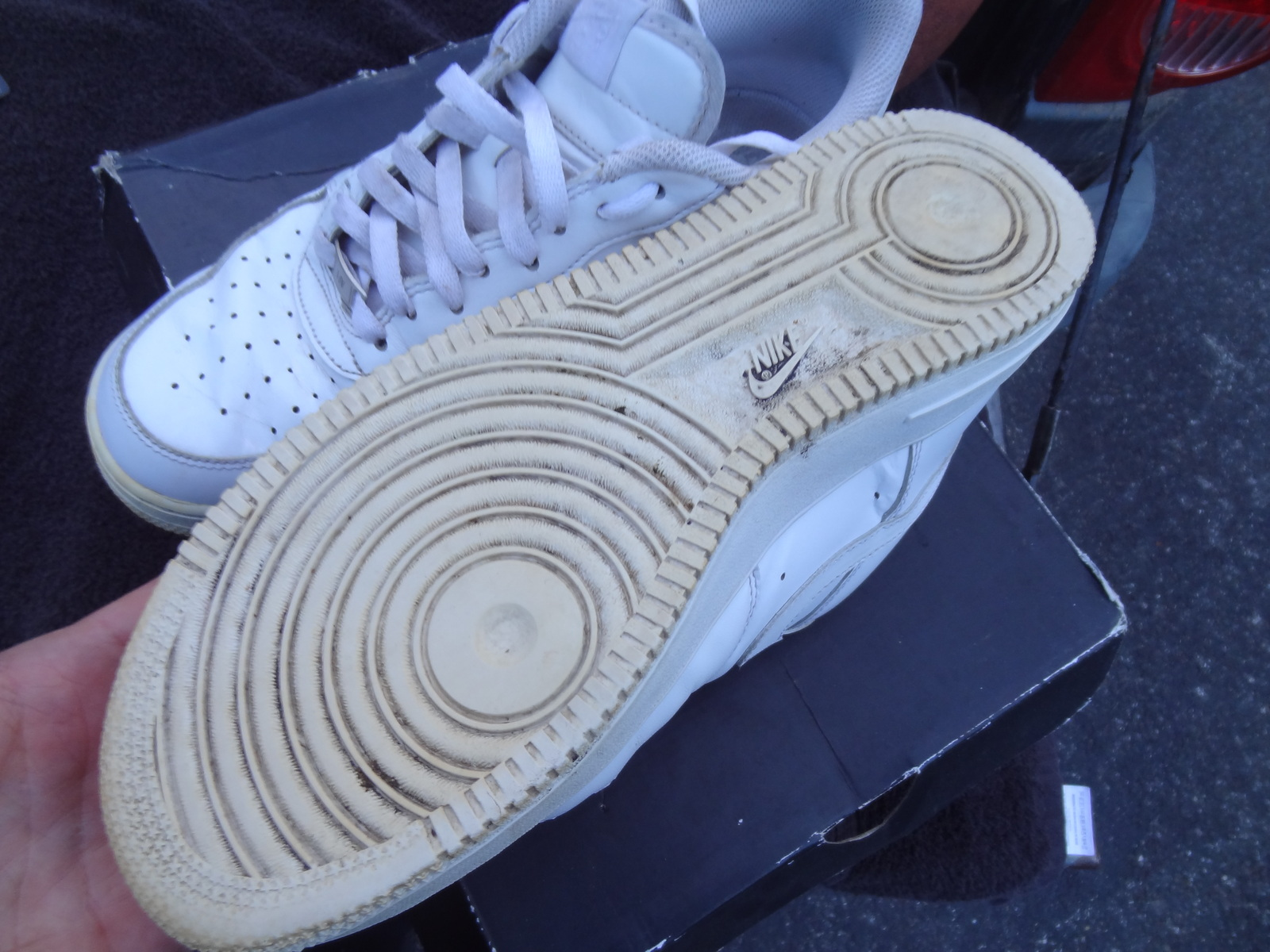 new concept e2a05 2e3db NIKE MEN'S SIZE 10 AIR FORCE 1 2014 AF1 LOW WHITE 315122-111 USED