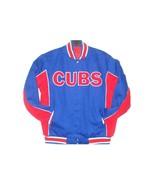 MLB Chicago Cubs Cotton Jacket  Reversible Red & Royal Color JH Design - $119.99