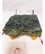 Granite Cheese Tray Board Black w Tan Accents with Cork Legs CT1004 - $45.00