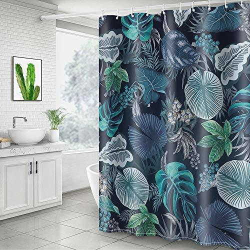 Home Decorat: Didihou Leaves Shower Curtain Tropical Plant Print