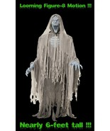Life Size Animated EVIL ENTITY GHOST ZOMBIE Halloween Prop Figure-8 Move... - $195.97