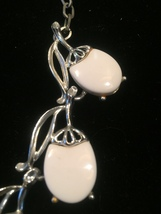 Vintage 60s White Melamine and Silver Choker Necklace image 3