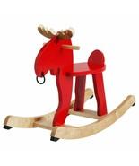 IKEA EKORRE Rocking Moose, Red, Rubberwood, 500.607.13 - NEW - $118.79