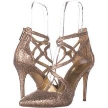 MICHAEL Michael Kors Catia Pump Stilleto Heels 708, Silver/Sand, 10 US - $37.43