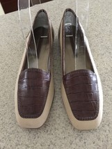 Enzo Angiolini Liberty Women's Beige & Brown Loafers Flats Shoes~ Size 5.5M New - $29.69