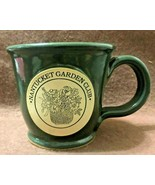 SUNSET HILL STONEWARE MORNING RAMBLER HUNTER GREEN NANTUCKET GARDEN CLUB... - $14.95