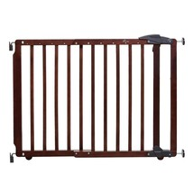 Baby Gate 29.5 in. H 2-Step Slide-and-Lift Handle Multipurpose Wood Cherry - $67.59
