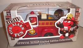 M&M Red's Firehouse Fire Truck Candy Dispenser Limited Edition NIB - $31.63