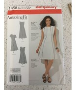 Simplicity Sewing Pattern 1458 Amazing Fit A Line Dress Slim Average Cur... - $7.23