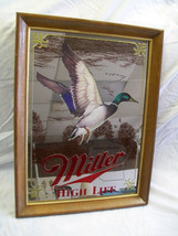 Vintage Miller Mirror Beer Sign Wisconsin Duck NOS with Box 1980s - $84.15