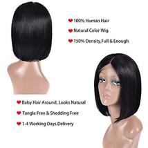 Simei Short Bob Wigs Human Hair Lace Front Wigs For Black Women Brazilian Virgin image 6
