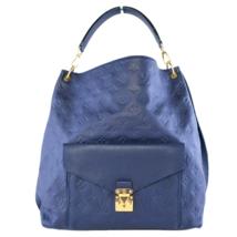 Louis Vuitton Blue Monogram Empreinte Metis Hobo Bag - $1,999.00