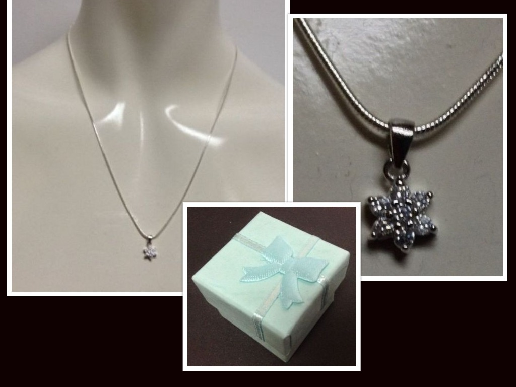Diamond cluster necklace collage