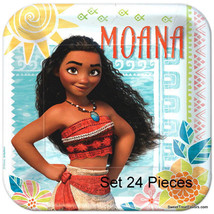 Moana Beach Party Favors Party Birthday Plates Lunch Dinner Movie LUAU 24 PIECES - $18.76