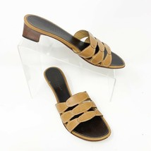 Cole Haan Leather Womens Slide Sandals, Size 8 & 8.5, Tan Mismatched - $17.72