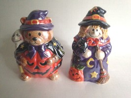 "Vintage CKRO Two Halloween Ceramic Figurines Party Decorations 5.5"" Tall - $21.00"