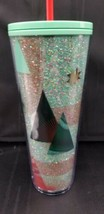 NWT Starbucks Holiday Christmas 2020 Teal Glitter Trees - $44.95