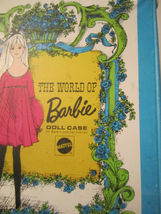 The World Of Barbie Doll Case 1002 Blue Vintage 1968 Doll Carrying Case image 4