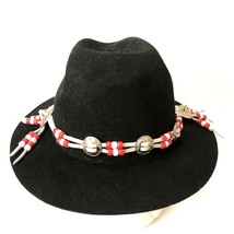 Vtg Western Outback Hat Mens Black Wool Felt Indiana Jones Dorfman Pacific USA  image 2