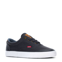 LEVIS FOWLER CANVAS LOW ATHLETIC SPORTS SNEAKERS MEN SHOES NAVY SIZE 12 NEW - $49.49
