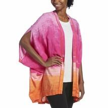 Hue Women's Woven Kimono Sleep Wrap (Pink, S/M) - $34.53