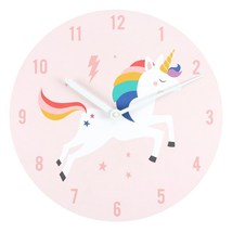MDF Rainbow Unicorn  Wall Clock; 11330 - $18.20