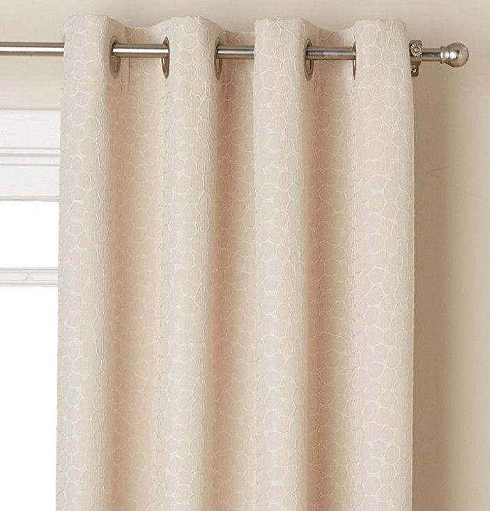 """Fizz Window Curtain Panel with Grommets, 84"""" length, White, by Lorraine - $19.99"""