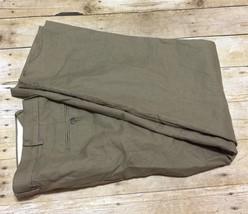 Polo Ralph Lauren Brown Beige Houndstooth 34 x 30 Pleated Cotton Dress Pans - $29.53