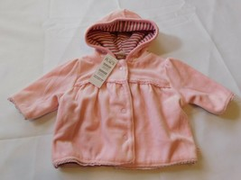 The Children's Place Baby Girl's Long Sleeve Velour Hoodie Pink Size Variations - $13.48
