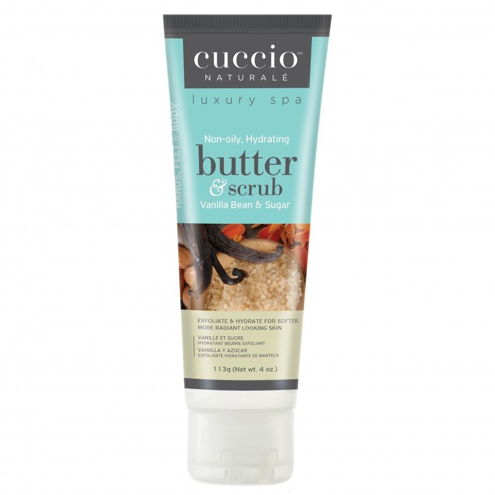 Cuccio Naturale Butter & Scrub, Vanilla Bean & Sugar  4oz