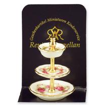Dollhouse 3-tier Dessert Plate Stand 1.931/0 Reutter Roseband Miniature - $12.77
