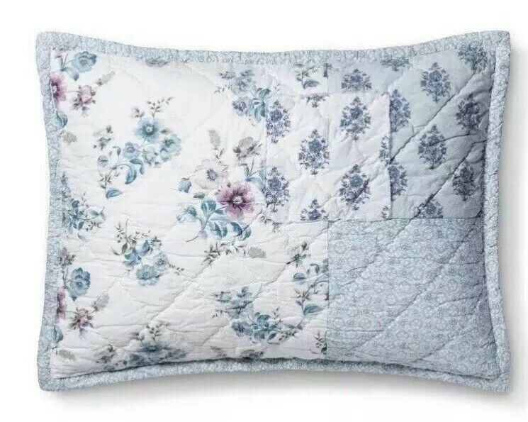 Primary image for 1  Simply Shabby Chic  Blue Dascha Patchwork Standard Pillow Sham NWOT