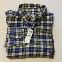 CHAPS Men Size S (15.5-31/32) Button-Down Flannel Shirt Hemlock Plaid Pattern - $13.63
