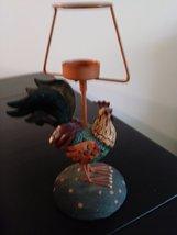 Unique Metal/Ceramic  Rooster Candle Holder image 2