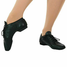 Leo's Dancewear 7058C Black Lace Full Sole Jazz Shoe Child Size 13M 13 M  - $29.74
