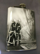 Firefighter Hero D 7 Flask 8oz Stainless Steel Drinking Whiskey Clearanc... - $7.92