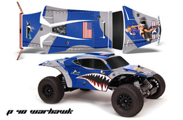 Amr Rc Graphic Decal Sticker Kit Traxxas Jconcepts Short Course Bajr Warhawk Blu - $29.65