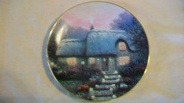 Candlelit Cottage Collectors Plate by Thomas Kinkade Garden Cottages of ... - $33.41