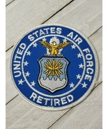 United States Air Force Retired Patch USAF Retiree Round 3 1/2 inches Ea... - $7.92