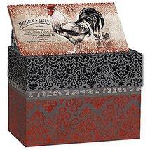 "LANG - Recipe Card Box - Cardinal Rooster"" - Artwork by Susan Winget - E... - $19.19"