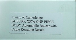 Funaro & Camerlengo HO PRR  X37A Automobile boxcar Boxcar Kit 8410 image 4