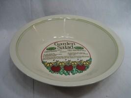 Large Porcelain Salad Bowl with Garden Salad Recipe Inside - $19.75