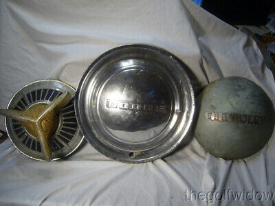 3 Vintage Hub Caps, Wheel Covers Dodge, Chevrolet