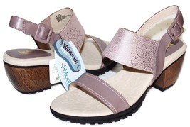 "✿ JAMBU Sunstone Memory-Foam Genuine Leather 2.5"" Heel Sandals 9.5 M NEW! L@@K! - $65.54"