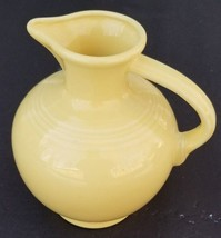 Vintage Fiesta  Fiestaware signed yellow carafe decanter pitcher jug HLC - $110.88