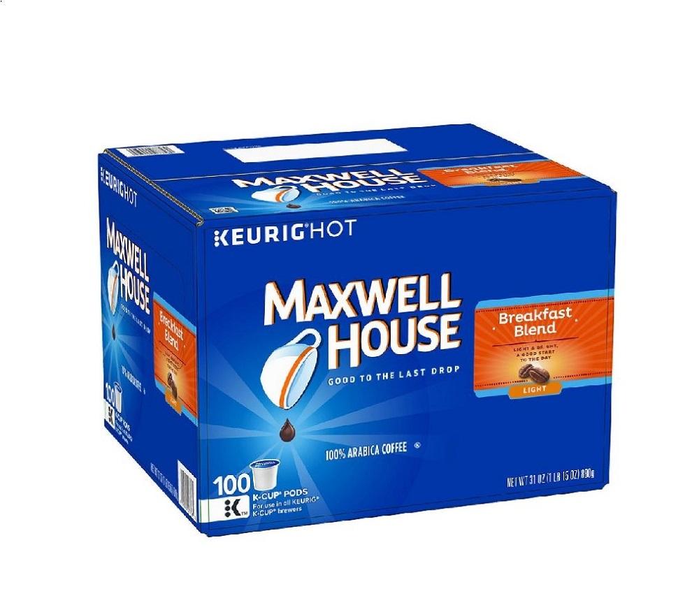 Maxwell House K Cups Breakfast Blend Coffee 100 Single Serve Pods Arabica Roast