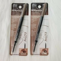 (2) Maybelline Brow Precise Micro Eyebrow Pencil &Grooming Brush 255 Soft Brown - $12.99
