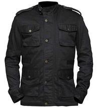 Celebrity Jon Dare Bernthal Black Castle Cotton Devil Jacket image 1