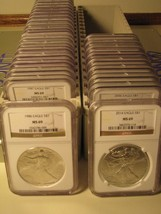 1986 - 2015 AMERICAN SILVER EAGLE 30 COIN SET NGC MS69 BROWN PREMIUM COI... - $1,480.00