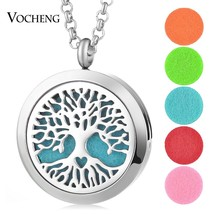 With Chain as Gift! 316L Stainless Steel 30MM aromatherapy Essential Oils Diffus - $13.47